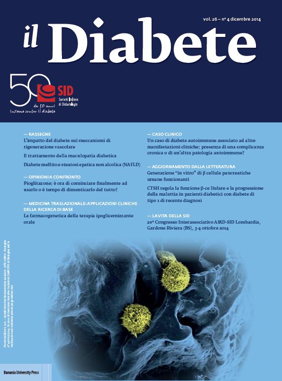 """""""Il Diabete"""" volume 26, numero 4, dicembre 2014"""