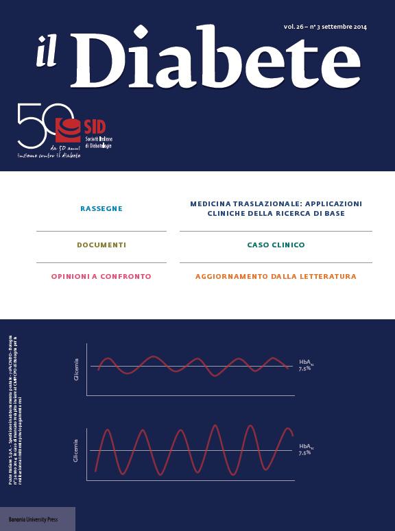 """""""Il Diabete"""" volume 26, numero 3, settembre 2014"""