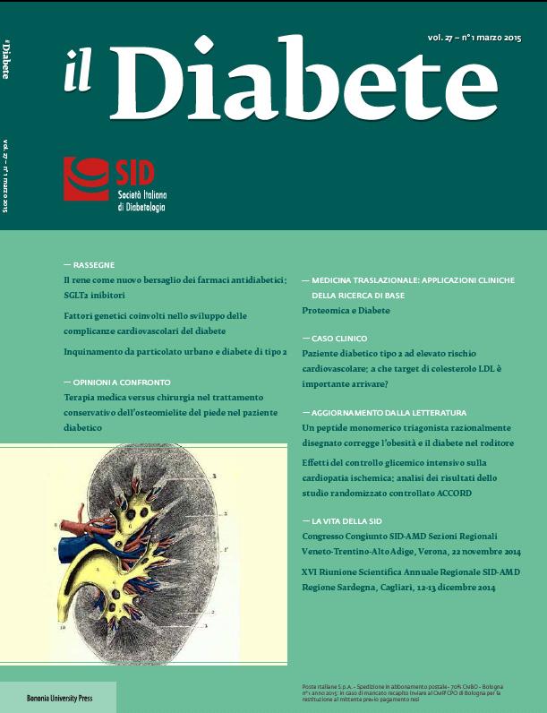 """""""Il Diabete"""" volume 27, numero 1, marzo 2015"""