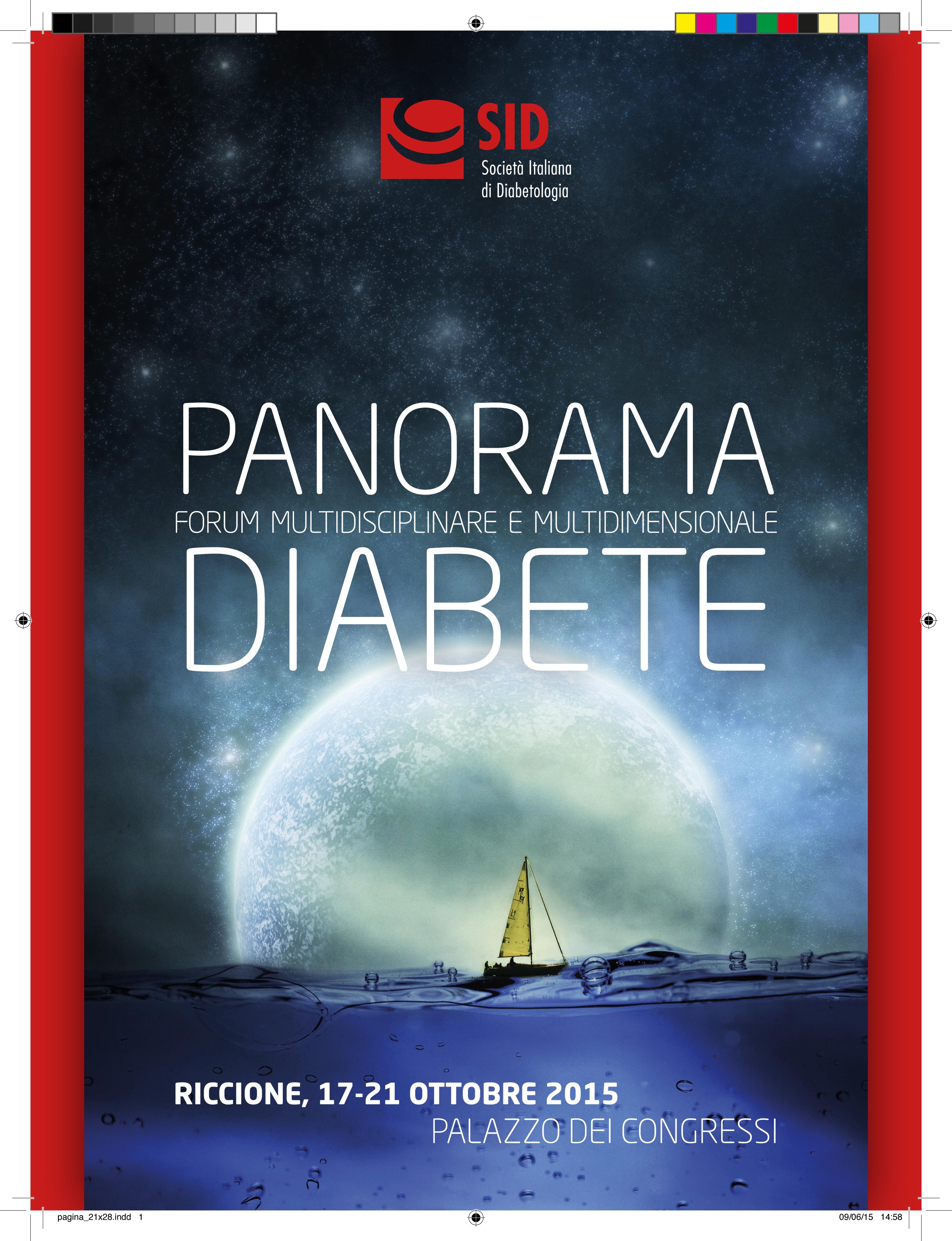 Panorama Diabete 2015: a Riccione nei giorni 17-21 Ottobre