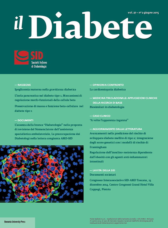 """""""Il Diabete"""" volume 27, numero 2, giugno 2015"""