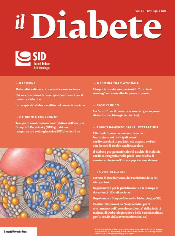 """""""Il Diabete"""" volume 28, numero 2, luglio 2016"""