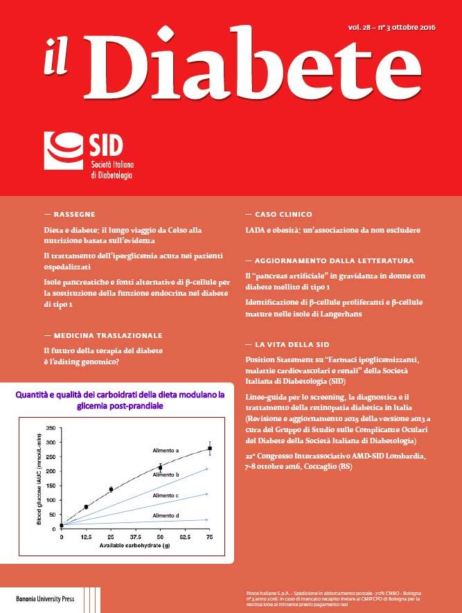 """il Diabete"" volume 28, numero 3, ottobre 2016"