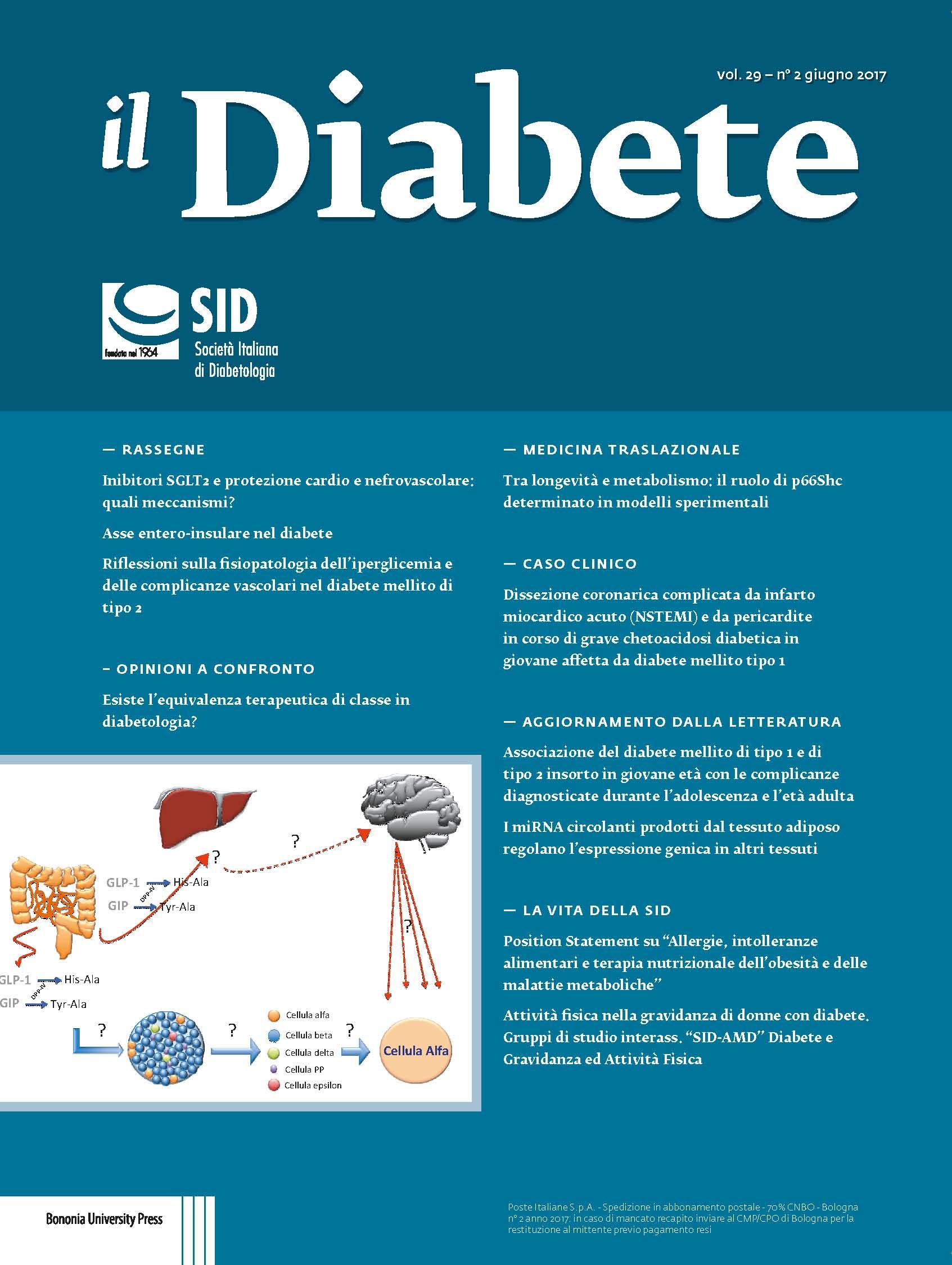 """""""Il Diabete"""" volume 29, numero 2, giugno 2017"""