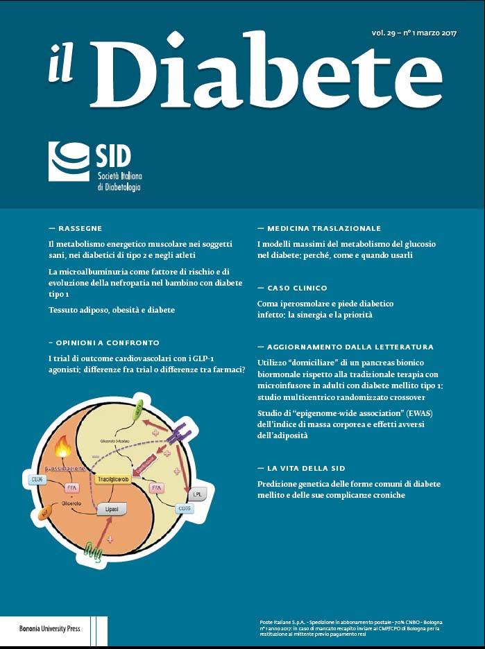 """""""Il Diabete"""" volume 29, numero 1, marzo 2017"""